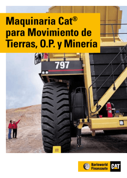 Maquinaria Cat® para Movimiento de Tierras, O.P. y