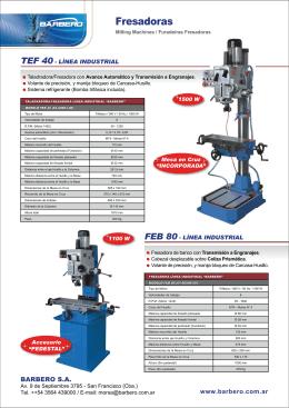 Folleto Taladradoras y Fresadoras - Línea Industrial