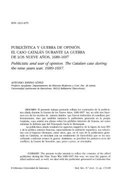 Publicística y guerra de opinión. El caso catalán durante la