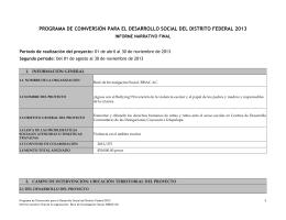 informe de actividades 2013 - Secretaría de Desarrollo Social