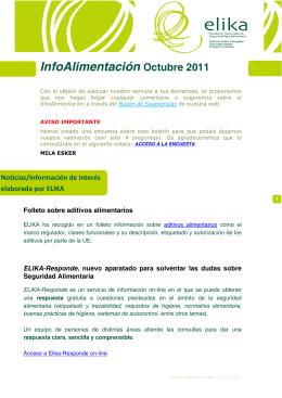 InfoAlimentación Octubre 2011