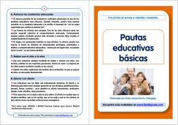 PAUTAS EDUCATIVAS BASICAS - centro de residencias cheste