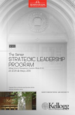 STRATEGIC LEADERSHIP PROGRAM