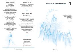 ORANDO CON LA DIVINA TRINIDAD - Voz y Eco de la Madre Divina