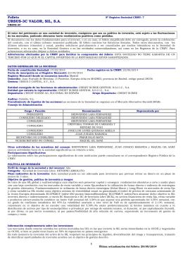 URSUS-3C VALOR, SIL, S.A.