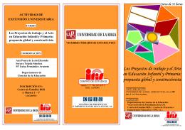 Los Proyectos de trabajo y el Arte en Educación Infantil y Primaria