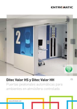 Ditec Valor HS y Ditec Valor HH Puertas peatonales automáticas