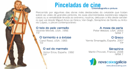 FOLLETO Cine e pintura