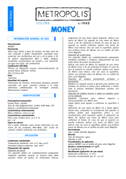 Ficha técnica MONEY