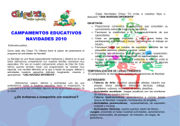 publicidad CAMPAMENTO URBANO CHIQUI NAVIDAD