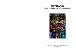FOLLETO PREPARACIÓN DE BODAS