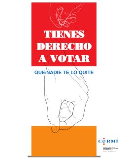 Tienes derecho a votar