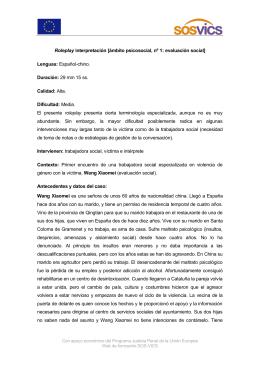 Roleplay interpretación [ámbito psicosocial, nº 1]