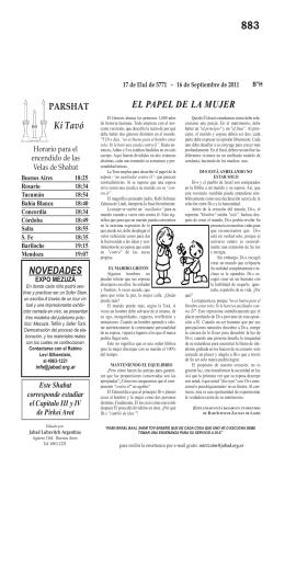 Ki Tavó EL PAPEL DE LA MUJER NOVEDADES