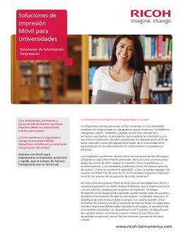 Soluciones de Impresión Móvil para Universidades