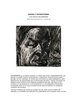 PATRIA Y PATRIOTISMO - Luis Emilio Recabarren