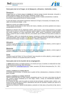 Hello Isebelle: - Red de Intercesores del Uruguay
