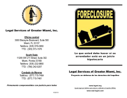 Legal Services of Greater Miami, Inc. Oficina central 3000 Biscayne