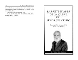 LAS SIETE EDADES DE LA IGLESIA DEL SEÑOR JESUCRISTO