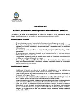 Medidas preventivas para lugares de alojamiento de