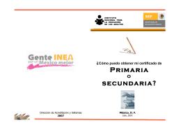Primaria secundaria? - Gobierno del Estado de Veracruz