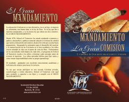 El Gran Mandamiento - Accelerated Christian Education