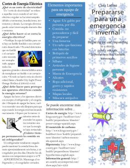 Prepararse para una emergencia invernal