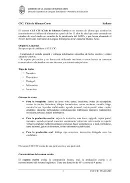 CIC: Ciclo de Idiomas Corto Italiano
