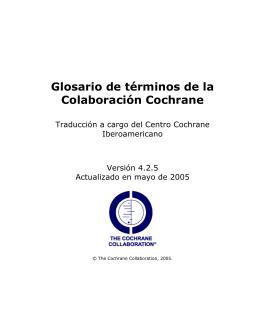 Glosario - Centro Cochrane Iberoamericano