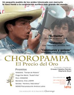 choropampa - Guarango Film and Video