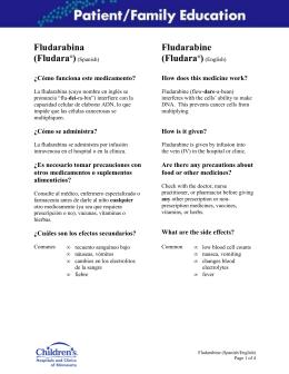Fludarabine - Children`s Hospitals and Clinics of Minnesota
