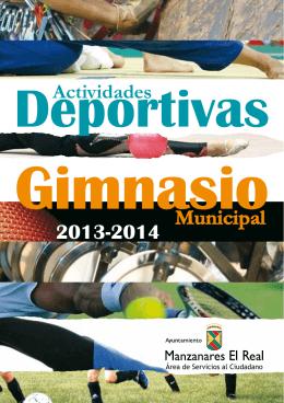folleto de actividades deportivas y gimnasio