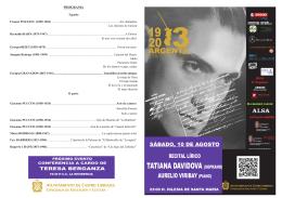 folleto recital lirico - Ayuntamiento de Castro Urdiales