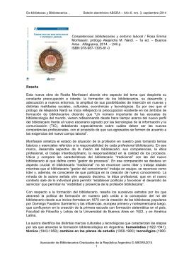 Canción para Cristina - Asociación de Bibliotecarios Graduados de