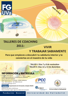 2011 COACHING Folleto.cdr - Formación