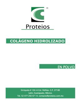 folleto colgeno hidrolizado en