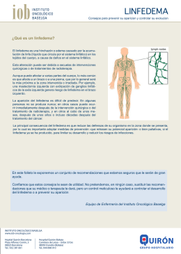LINFEDEMA - Instituto Oncológico Baselga