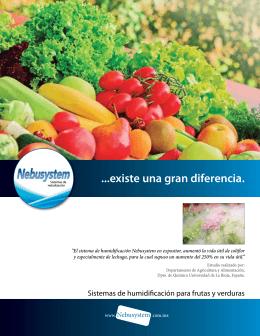 Folleto Fruta y Verdura