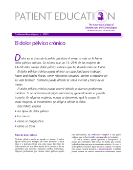 Patient Education Pamphlet, SP099, El dolor pélvico crónico