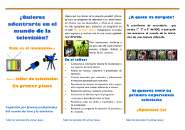 folleto taller tv