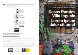 Casas Rurales Villa Ingenio Lorem ipsum dolor sit