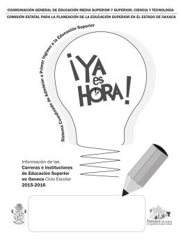 folleto ya es hora 2015-2016