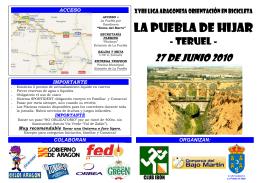 Folleto La Puebla de Hijar OBM 2010