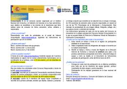 Folleto Informativo Concurso Escolar CONSUMOPOLIS 9