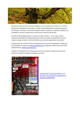 Boletín Informativo Otoño Mágico en el Valle del Ambroz 1/2015
