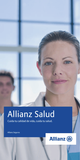Folleto Allianz Salud