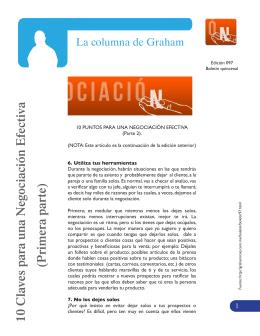 10 Claves para una Negociación Efectiva (P rimera