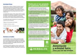 Alimentación y actividad física, - Dirección General de Promoción de
