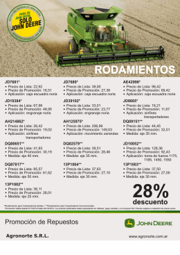 folleto rodamientos