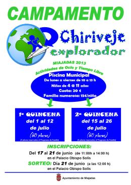 1 folleto - Ayuntamiento de Miajadas